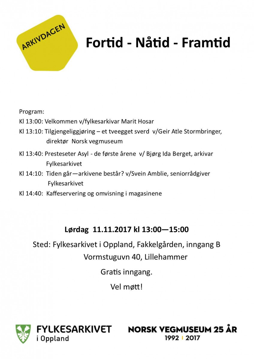 Program arkivdagen 2017